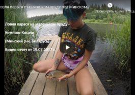 Ловля карася в маленьком пруду под Минском - кемпинг Косачи