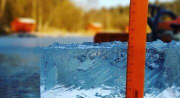 Толщина льда - Косачи 2020, зима